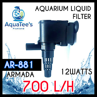 Armada Ar-881 Submersible Pond Aquarium Water Pump 700 L/h Marine/aqua Fountain