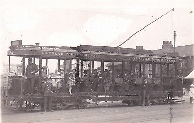 Essex: SOUTHEND - ON - SEA - TRAM Local Woolf Real Photo. R.P. card about 1907.