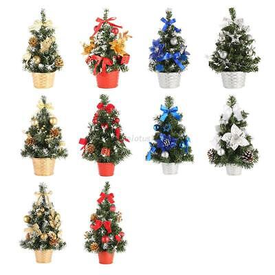 Mini Christmas Tree Ornament Desk Table Festival Holiday Xmas Party Decor Gifts