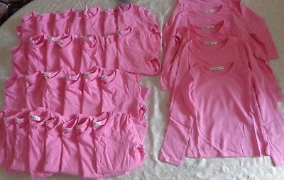 Job Lot New George Girls Long Sleeve Pink Tops Age 3-4 x 33 Items