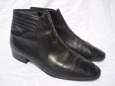 Vintage Black Leather Ankle Boots size 11