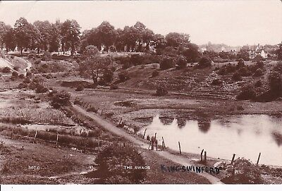 Worcestershire: KINGSWINFORD - THE SWAGS. Wilson Real Photo R.P. card sent 1928.