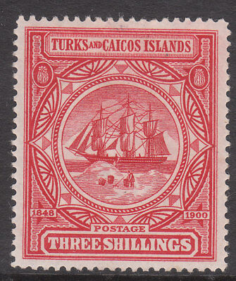 Turks & Caicos Islands 1900 #109 Mint Victoria Ship Badge Stamp