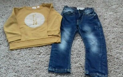 Boys Zara outfit  jumper and jeans bundle  2-3 years
