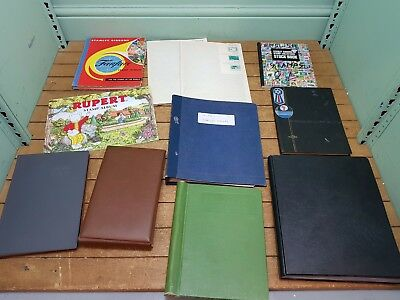 Lot of 11x Various Franked/Unfranked Stamp Album Collection Books