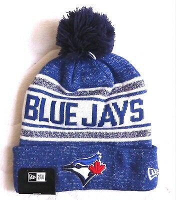Toronto BLUE JAYS New Era BOBBLE Pompom Beanie Toque Hat Baseball TAG canada