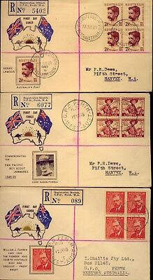 1948  Three  Scarce & Interesting Registered First Day Covers    No  Reserve!!!