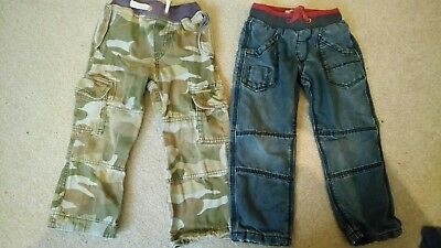 mini boden camouflage trousers 4 years and Marks and Spencer jeans age 3-4