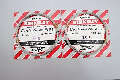 Berkeley Control Line Wire  - Stainless Steel .021 x 55' - Two items