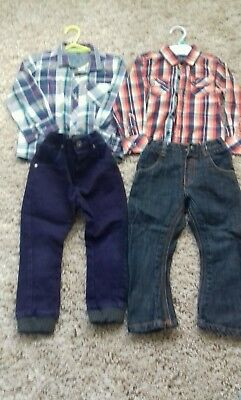 Boys Ted Baker outfit shirt /jeans bundle 2-3 years