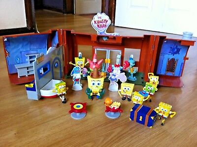 Spongebob Squarepants  Huge Toy Bundle Xmas 2017 Nickelodeon Krusty Krab Cafe