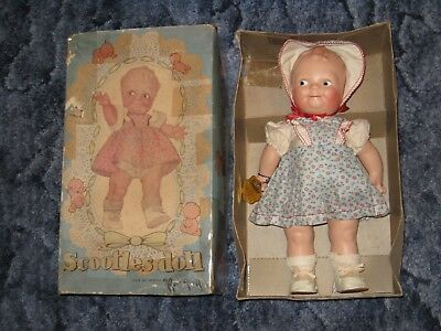 "16"" Antique 1920's Cameo Rose O'Neill Scootles Doll with Box"
