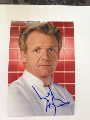 GORDON RAMSAY AUTOGRAPHED Reprint Photo