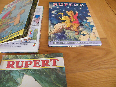1 Of A Kind 1975 Rupert Book As Printed Upside Down!   Plus 3 Other Rupert Books