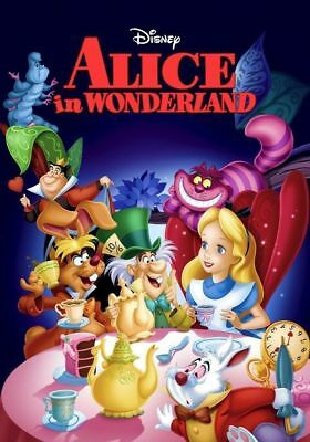 ALICE IN WONDERLAND - Disney Poster Picture Print