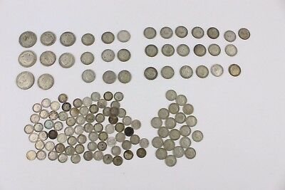 Large Collection of Vintage Pre 1947 British SILVER Coins GV & GV1 407g