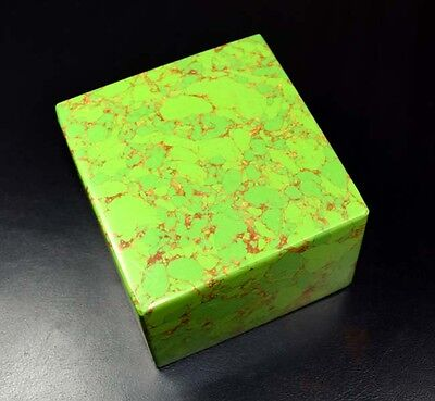 2620 Cts/524 Gram Antique Museum Size Treated Green Copper Turquoise Square Slab