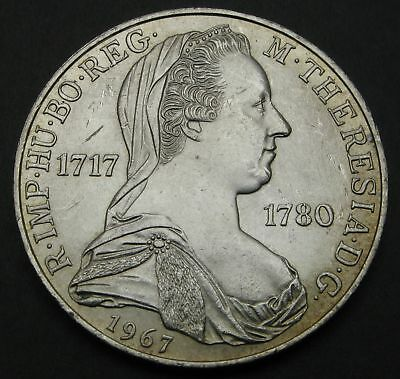 AUSTRIA 25 Schilling 1967 - Silver - Birth of Maria Theresa - XF - 91