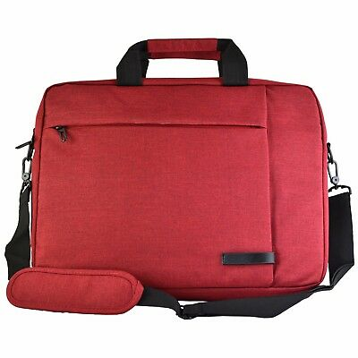"Canvas Laptop Computer Case Bag for Dell Asus HP Samsung up to 15.6"" (Red)"