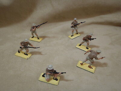 Britains Deetail 1971 1/32 WW2 British 8th Army Desert Rats - set of 6 soldiers