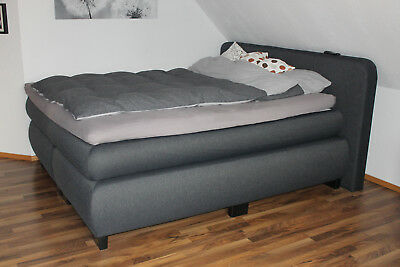 boxspringbett in rot 180x200 selbstabholung in 55411. Black Bedroom Furniture Sets. Home Design Ideas