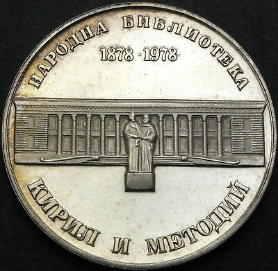 BULGARIA 5 Leva 1978 Proof - Silver - National Library - 750 ¤