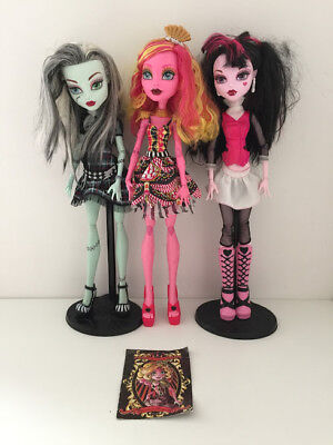 "Monster High GIANT Size Dolls Bundle 17"" Tall Frankie Gooliope Draculaura Toys"