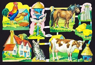 Vintage Scrap Sheet, Mamelok Press Limited - Mlp 1322 - Farmyard