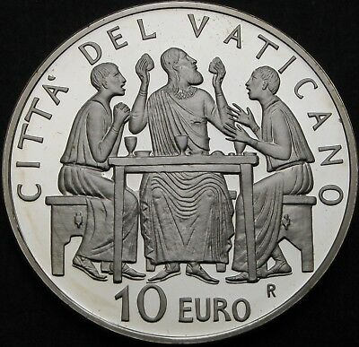 VATICAN 10 Euro 2005 Proof - Silver - Year of the Eucharist - 759 ¤
