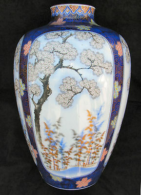 "Huge Exceptional Japanese Imari Fukagawa Vase - 15"" high - Circa 1915"