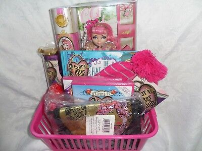 Monster High Ever After High Gift Set With Dvds Hat Shampoo Ca Cupid Doll Brolly
