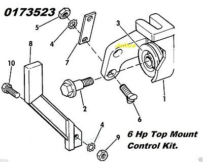 173523 Top Mount Pull Start Kit for Johnson & Evinrude Outboards (1977-79) 6 HP