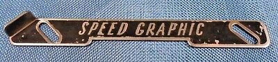 Authentic Graflex Speed Graphic 4X5 Camera Name Plate Nameplate Replacement Part