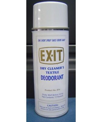 EXIT Industrial Fabric Spray & Deodorizer Great for all bad odors (12 CANS)