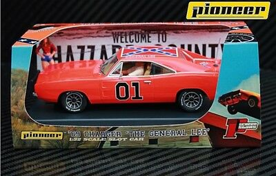 Pioneer Slot Car Dodge Charger Dukes Of Hazzard 'general Lee' - Brand New In Box