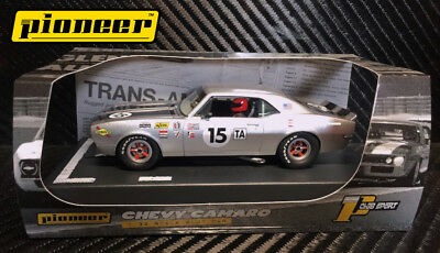 Pioneer Slot Car 1968 Chevy Camaro T/a #15, Silver Edition '12Hr Enduro Racer'