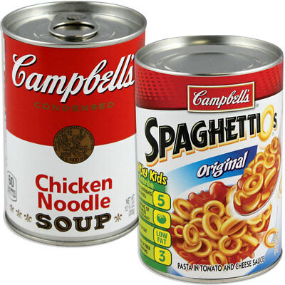 NEW (Set) Campbell's & Spaghettio's Can Secret Safes - Hide In Stuff Plain Sight