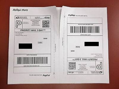 50 shipping labels, Paypal, USPS, UPS Strong self adhesive