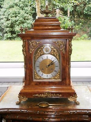 Peerless Burr Walnut & Ormolou Ting Tang Bracket Clock Serviced & Overhauled