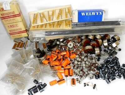 Large job lot of vintage electronic components - unused old stock items