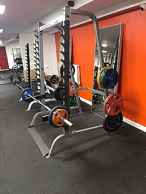 Body Solid commercial multi press squat rack bench