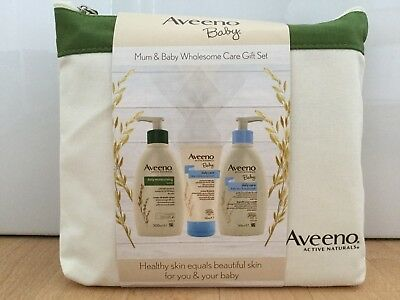Aveeno Baby Mum & Baby Wholesome Care Gift Set NEW