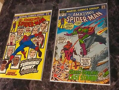 RARE AMAZING SPIDER-MAN LOT 121 And 122 TOP TIGHT STUNNING COLOR 9.0
