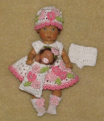 Ellery/Sasha Kish Doll Crochet Dress Set w/OOAK Baby  #128