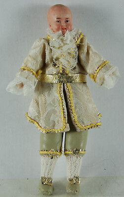 Vintage Dolls House Figure - Man with Cream Suit (Requires Hair/Hat)