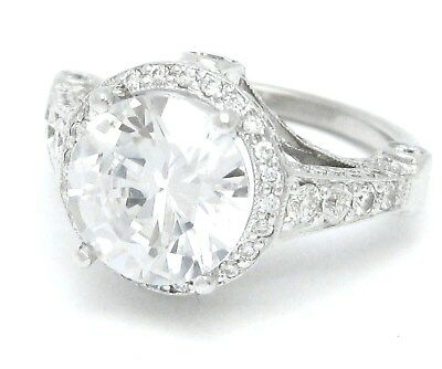 Round Cut Pave Engagement Mounting For 8Mm Stone