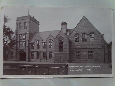 Victoria Building & Tower Uppingham School Real Photographic Postcard