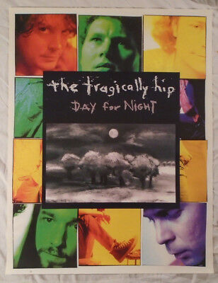 Tragically Hip 1994 Promo Poster Day For Night Gord Downie