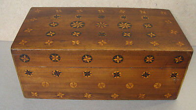 Gorgeous 19th century walnut marquetry box, original surface *
