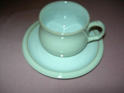 Denby Linen Tea Cups with Saucers